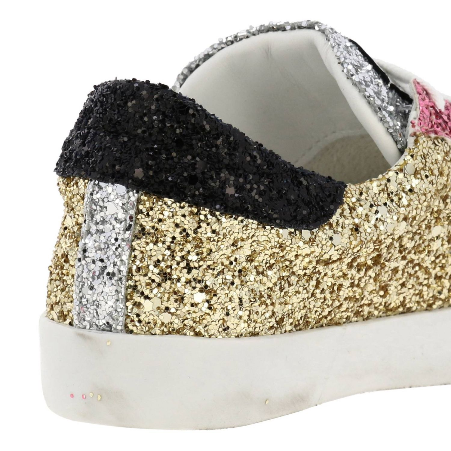 Shoes kids Philippe Model gold 4