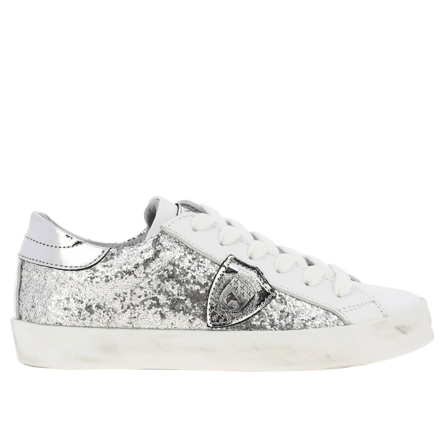 Shoes kids Philippe Model silver 1