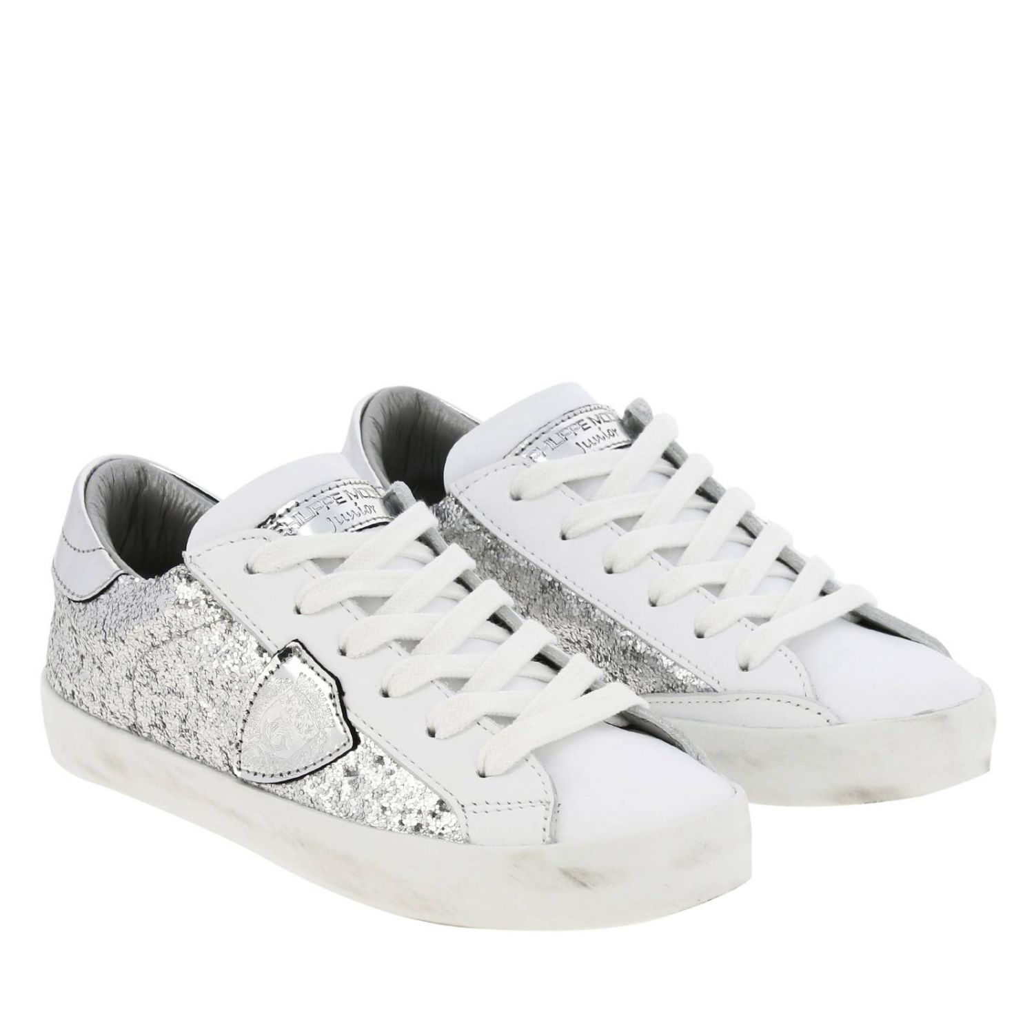 Shoes kids Philippe Model silver 2