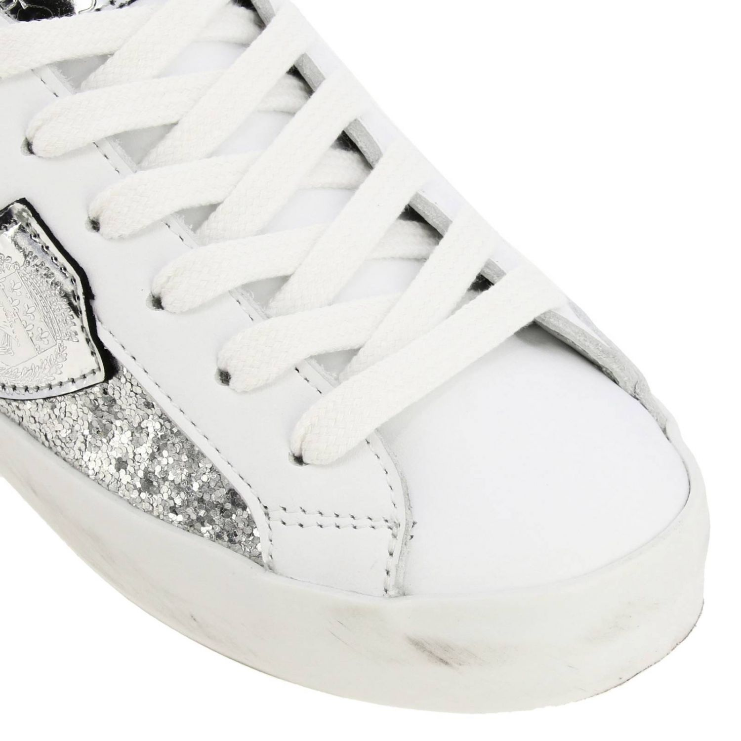 Shoes kids Philippe Model silver 3