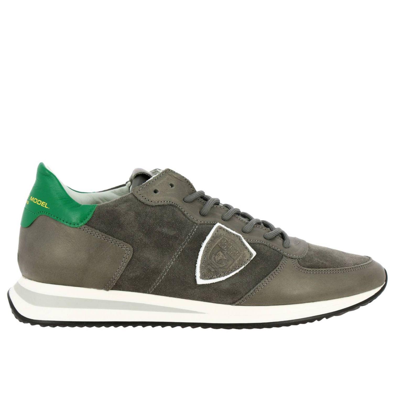 Shoes men Philippe Model grey 1