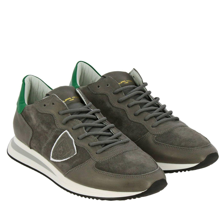 Shoes men Philippe Model grey 2