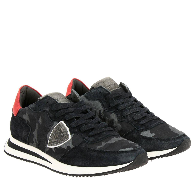 Спортивная обувь Philippe Model: Кроссовки Tropez X Philippe Model из нейлона и замши с контрастными деталями темно-серый 2