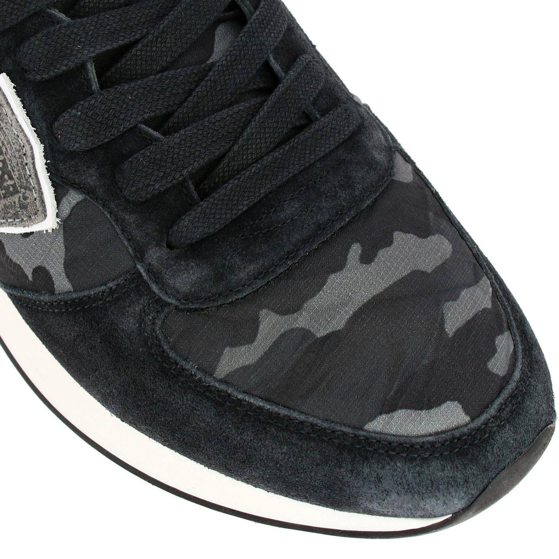 Спортивная обувь Philippe Model: Кроссовки Tropez X Philippe Model из нейлона и замши с контрастными деталями темно-серый 3
