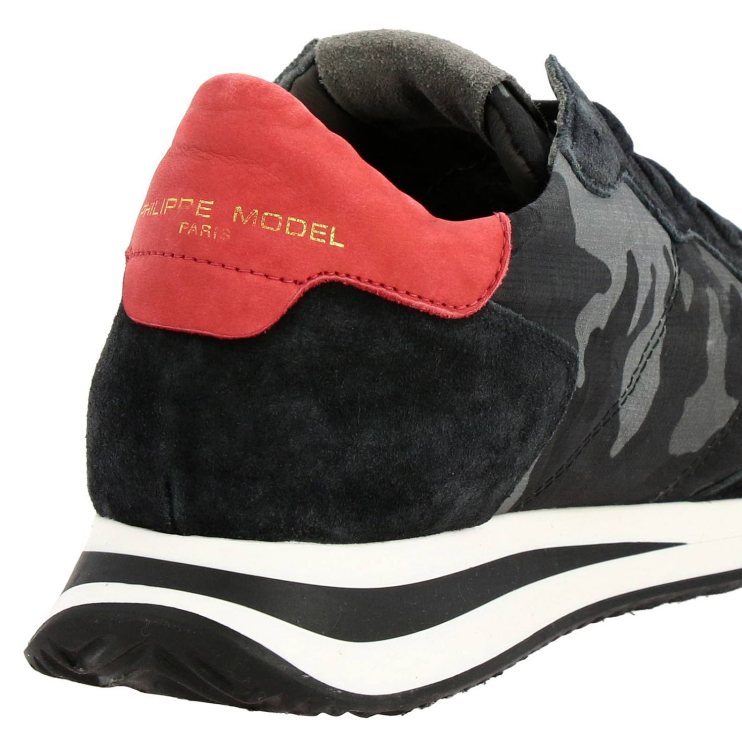 Спортивная обувь Philippe Model: Кроссовки Tropez X Philippe Model из нейлона и замши с контрастными деталями темно-серый 4
