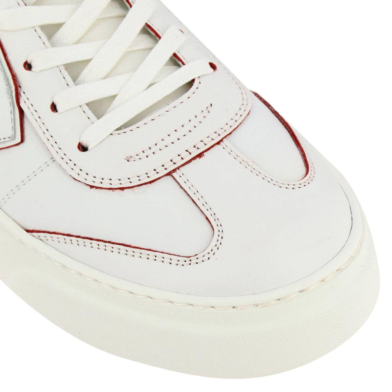 Sneakers Temple Philippe Model stringata in pelle liscia bianco 3