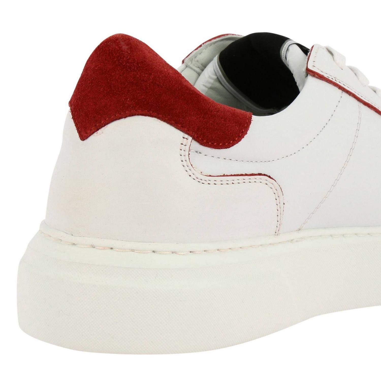 Sneakers Temple Philippe Model stringata in pelle liscia bianco 4