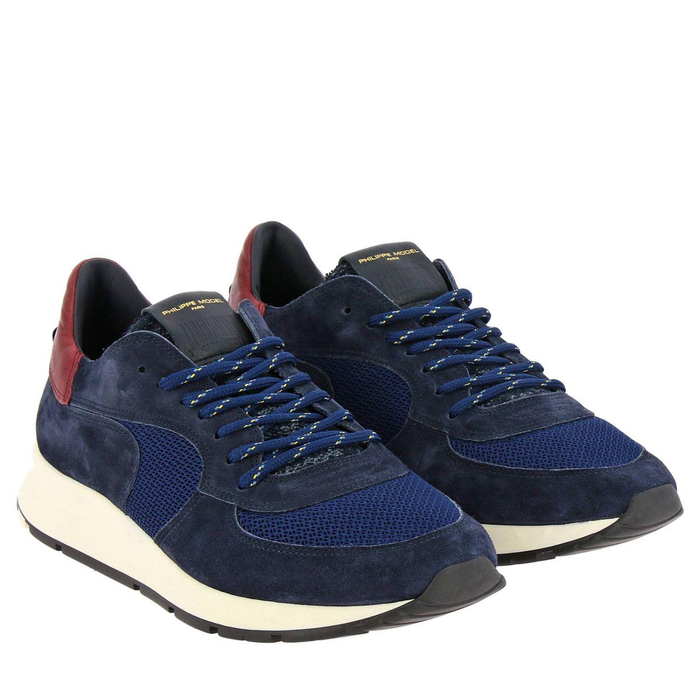 Zapatos hombre Philippe Model azul oscuro 2