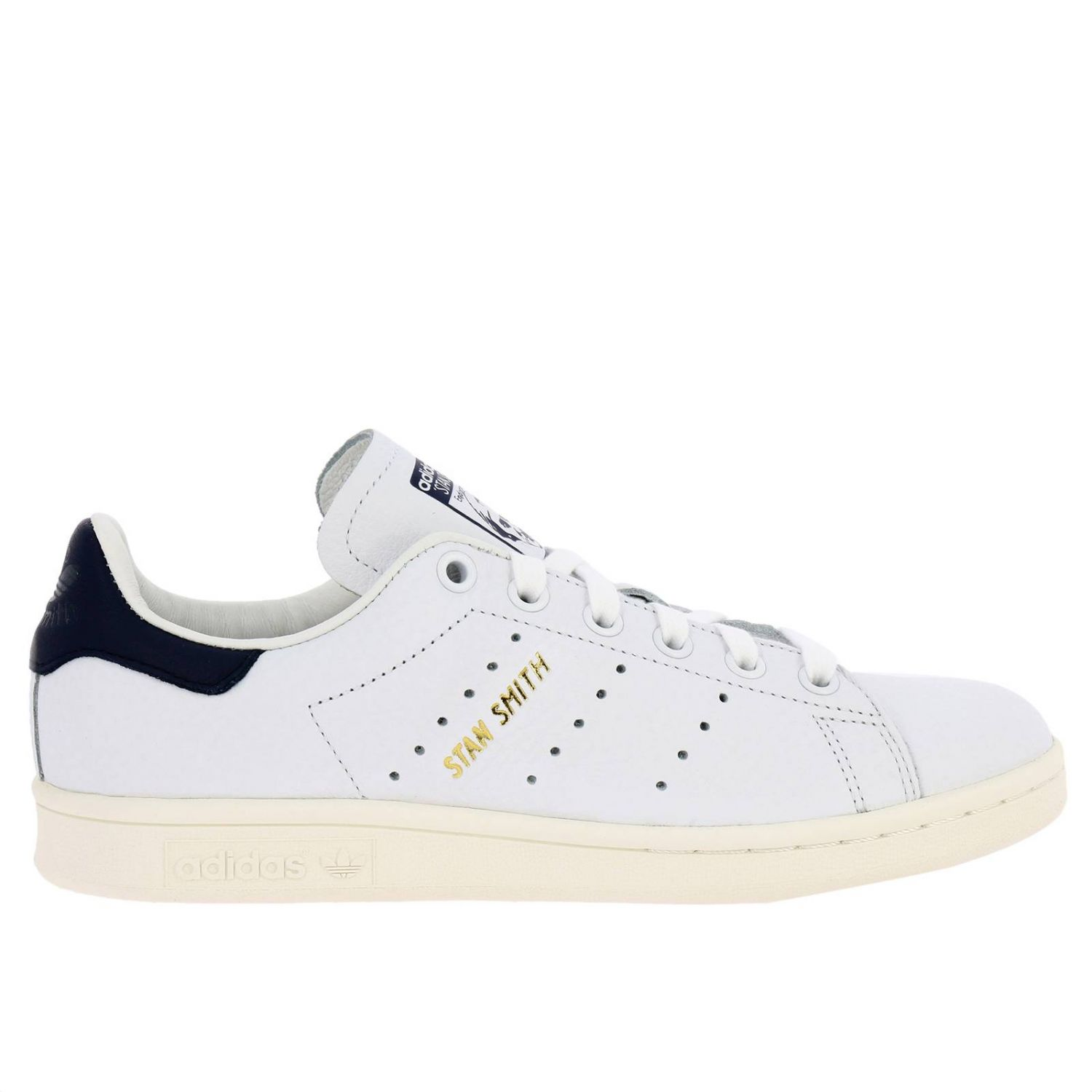 Sneakers Adidas Originals: Sneakers Stan Smith Adidas Originals in pelle con tallone a contrasto bianco 1