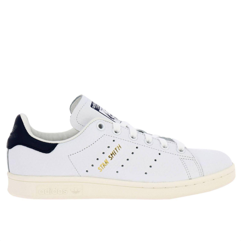 Zapatillas Adidas Originals: Zapatillas Stan Smith Adidas Originals de cuero con tacón en contraste blanco 1