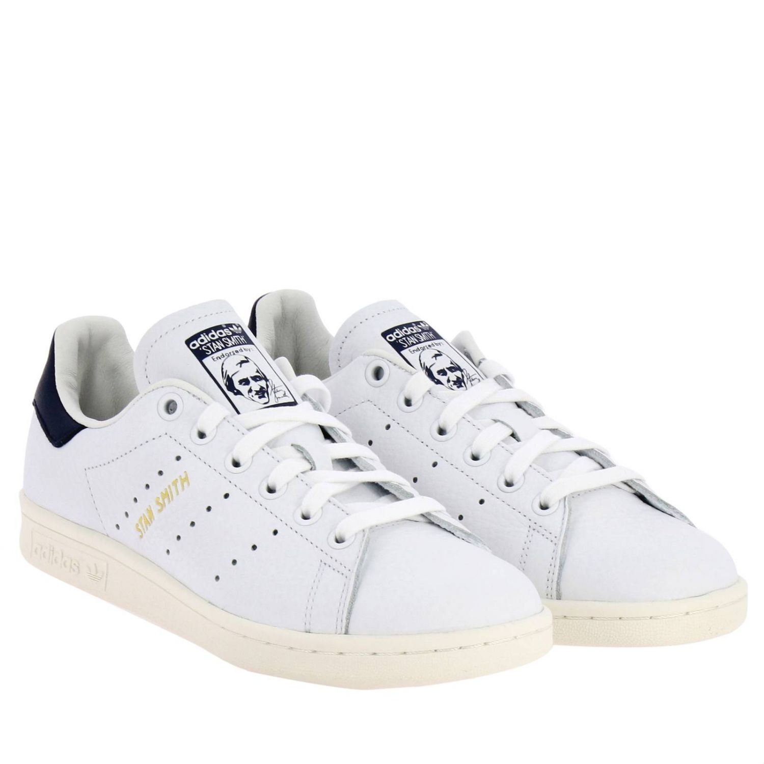 Sneakers Adidas Originals: Sneakers Stan Smith Adidas Originals in pelle con tallone a contrasto bianco 2