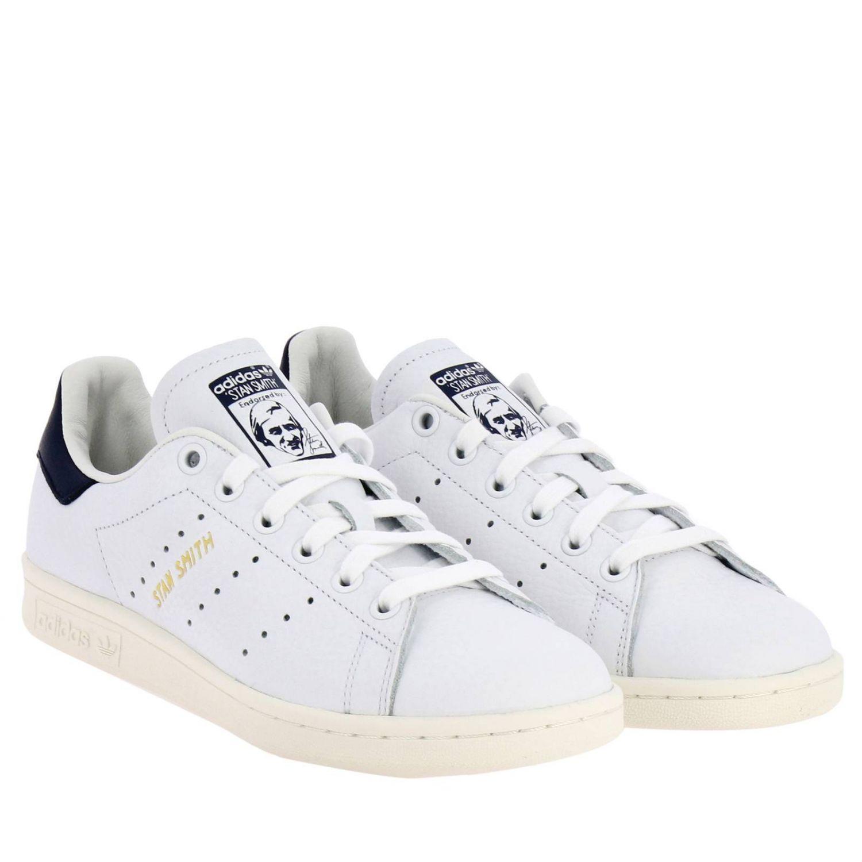 Zapatillas Adidas Originals: Zapatillas Stan Smith Adidas Originals de cuero con tacón en contraste blanco 2