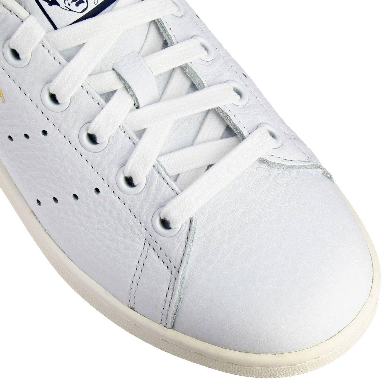 Zapatillas Adidas Originals: Zapatillas Stan Smith Adidas Originals de cuero con tacón en contraste blanco 3