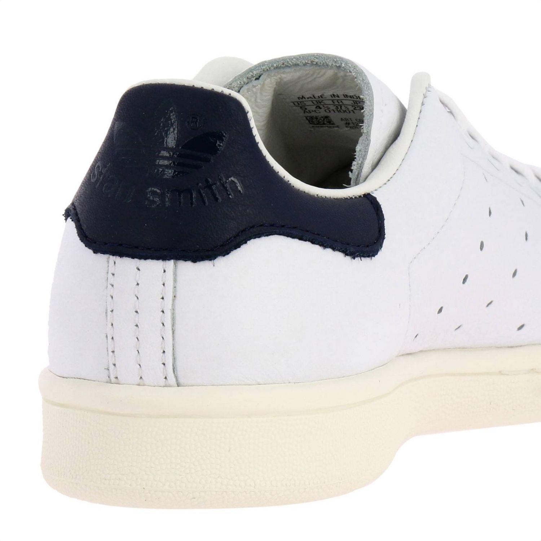 Zapatillas Adidas Originals: Zapatillas Stan Smith Adidas Originals de cuero con tacón en contraste blanco 4