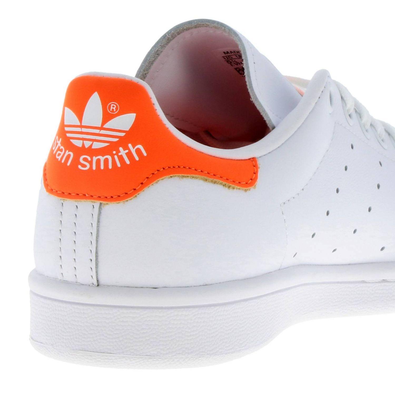 Спортивная обувь Adidas Originals: Кроссовки Stan Smith W Adidas Originals из кожи с контрастной вставкой на пятке белый 4