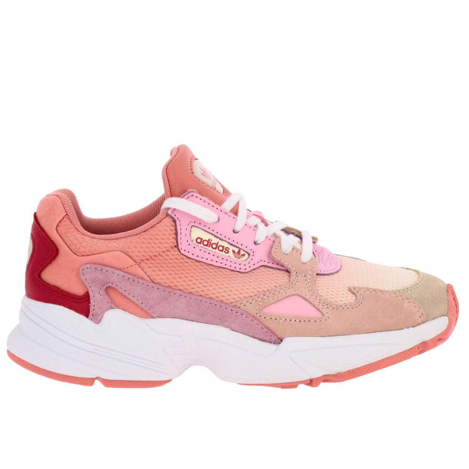 Sneakers Adidas Originals: Sneakers Falcon W Adidas Originals in rete pelle e camoscio rosa 1