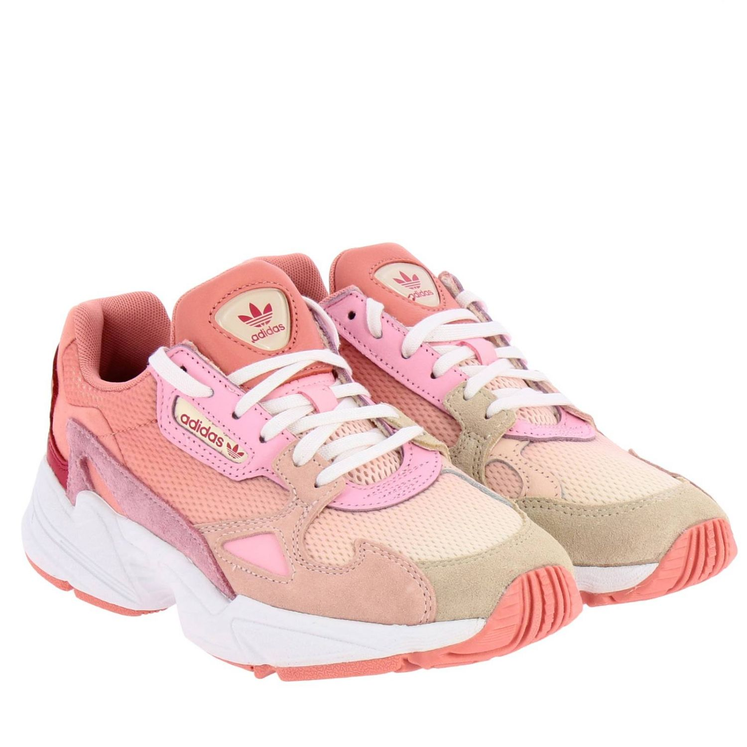 Sneakers Adidas Originals: Sneakers Falcon W Adidas Originals in rete pelle e camoscio rosa 2