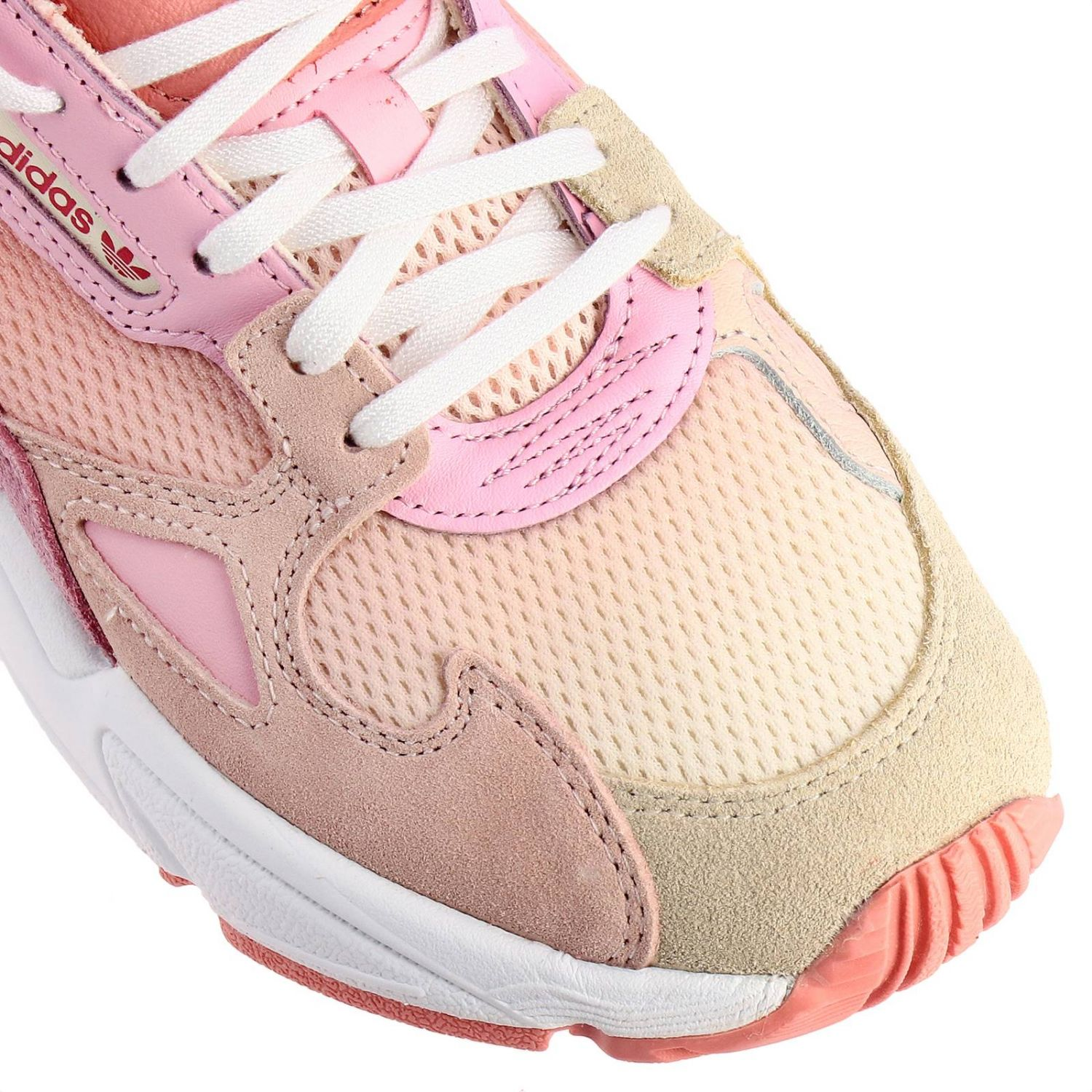 Sneakers Adidas Originals: Sneakers Falcon W Adidas Originals in rete pelle e camoscio rosa 3