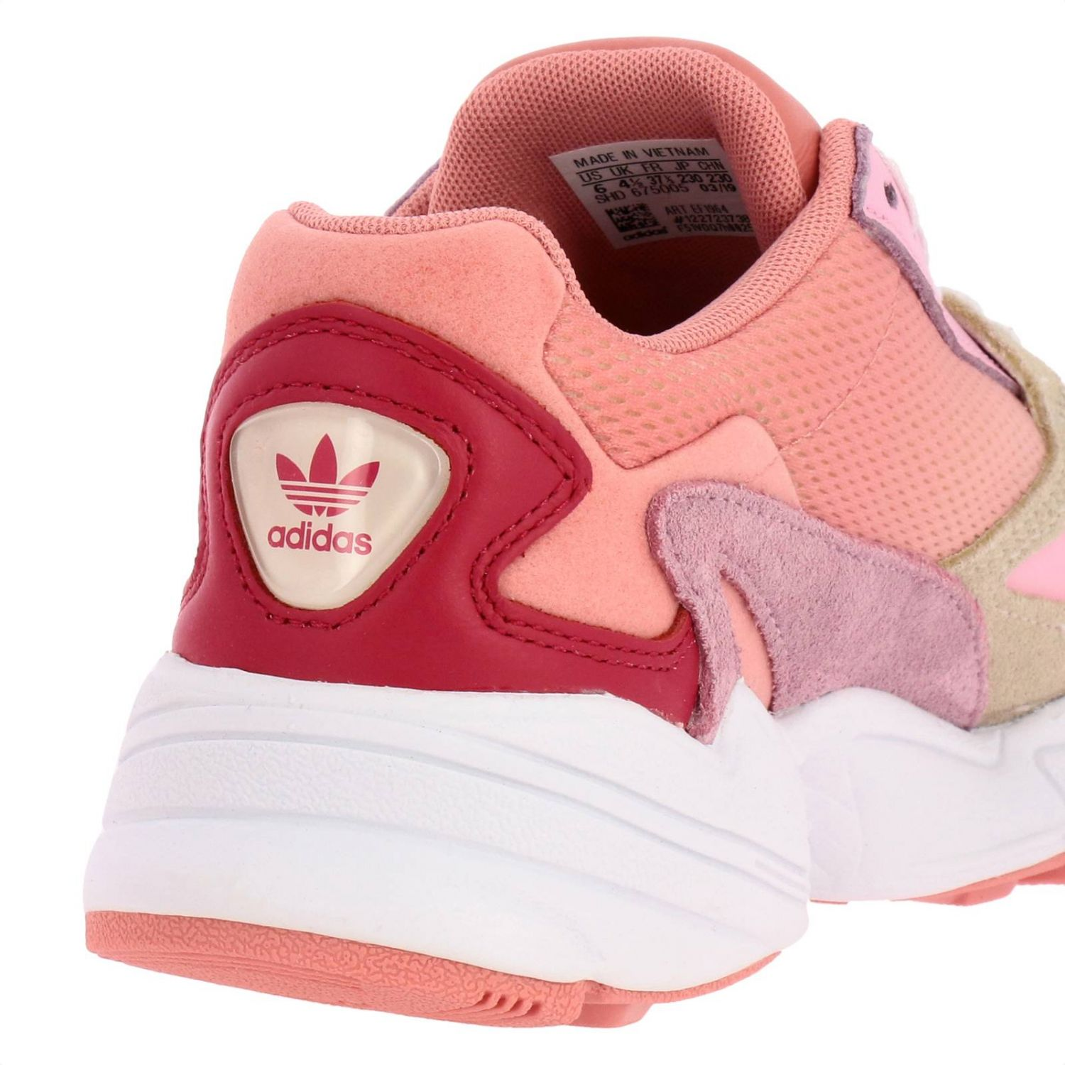 Sneakers Adidas Originals: Sneakers Falcon W Adidas Originals in rete pelle e camoscio rosa 4