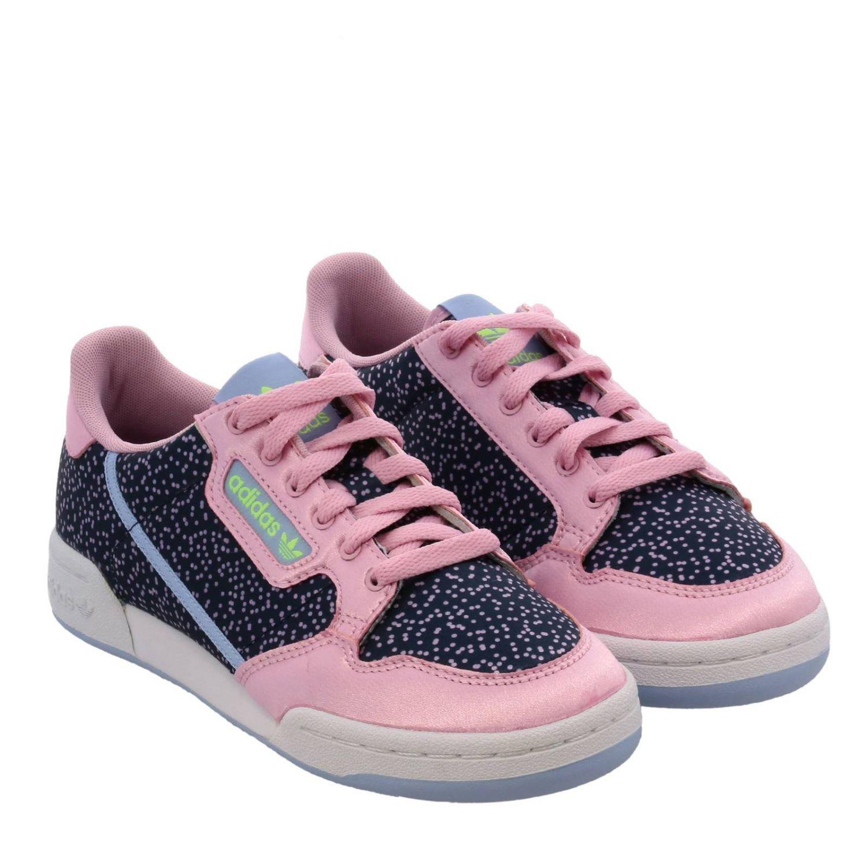 Кроссовки Continental 80s Adidas Originals с узором розовый 2