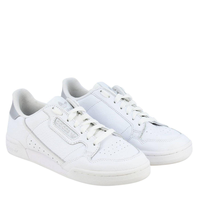 Спортивная обувь Adidas Originals: Кроссовки Continental 80s Adidas Originals из кожи с контрастными деталями белый 2
