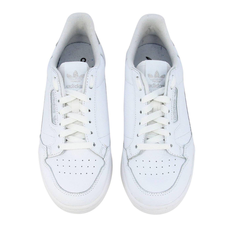 Спортивная обувь Adidas Originals: Кроссовки Continental 80s Adidas Originals из кожи с контрастными деталями белый 3