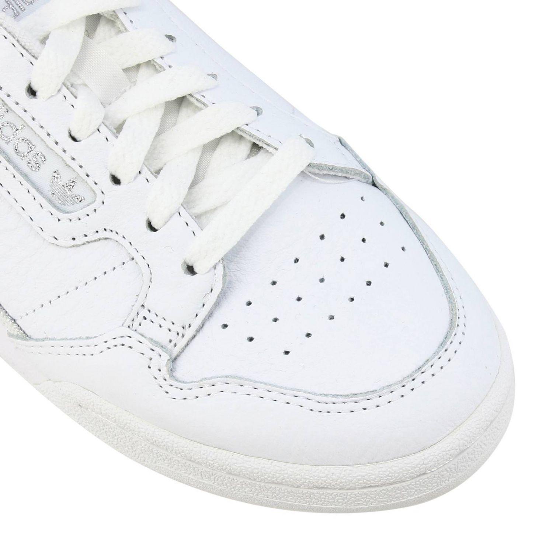 Спортивная обувь Adidas Originals: Кроссовки Continental 80s Adidas Originals из кожи с контрастными деталями белый 4