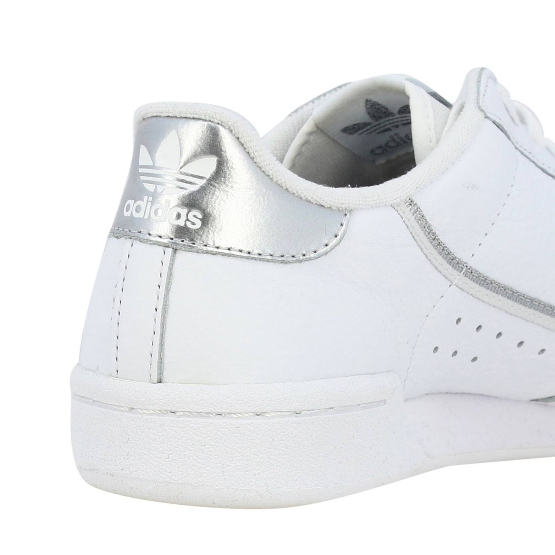 Спортивная обувь Adidas Originals: Кроссовки Continental 80s Adidas Originals из кожи с контрастными деталями белый 5