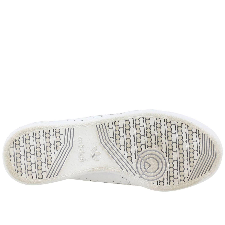 Спортивная обувь Adidas Originals: Кроссовки Continental 80s Adidas Originals из кожи с контрастными деталями белый 6