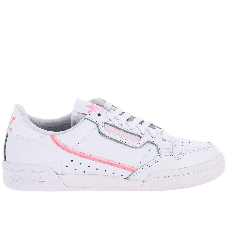 运动鞋 Adidas Originals: Adidas Originals Continental 80 真皮洞洞logo装饰运动鞋 白色 1