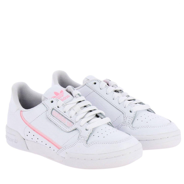 运动鞋 Adidas Originals: Adidas Originals Continental 80 真皮洞洞logo装饰运动鞋 白色 2
