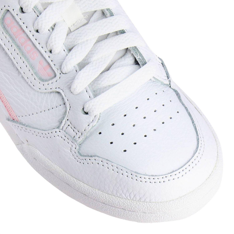 运动鞋 Adidas Originals: Adidas Originals Continental 80 真皮洞洞logo装饰运动鞋 白色 3