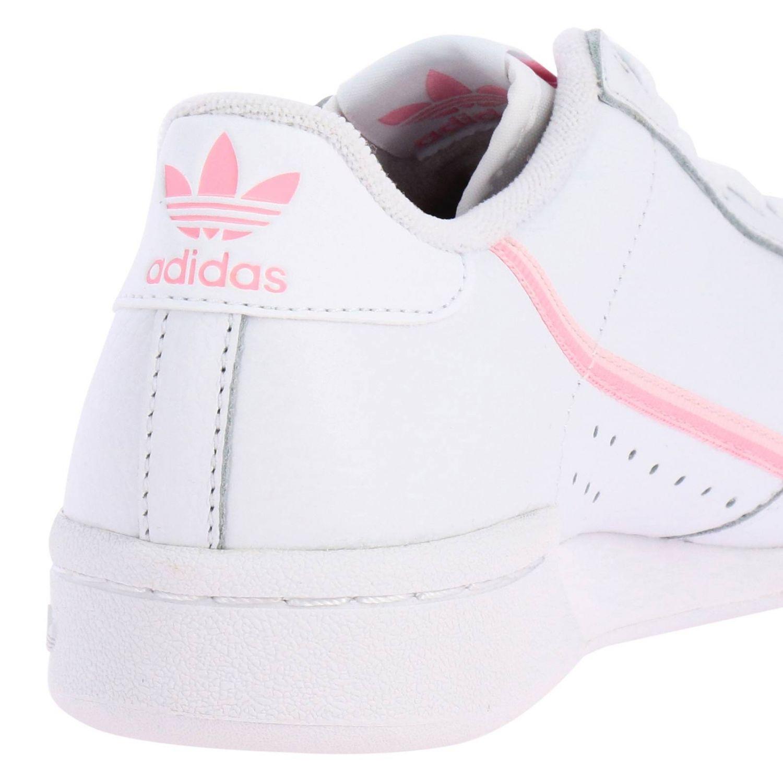运动鞋 Adidas Originals: Adidas Originals Continental 80 真皮洞洞logo装饰运动鞋 白色 4