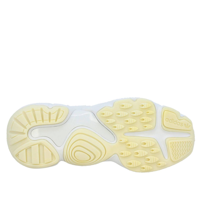 Sneakers Adidas Originals: Sneakers Magnum Runner W Adidas Originals in pelle vernice e micro rete bianco 6
