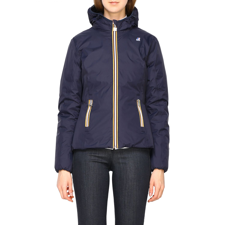 Jacket women K-way blue 1 1