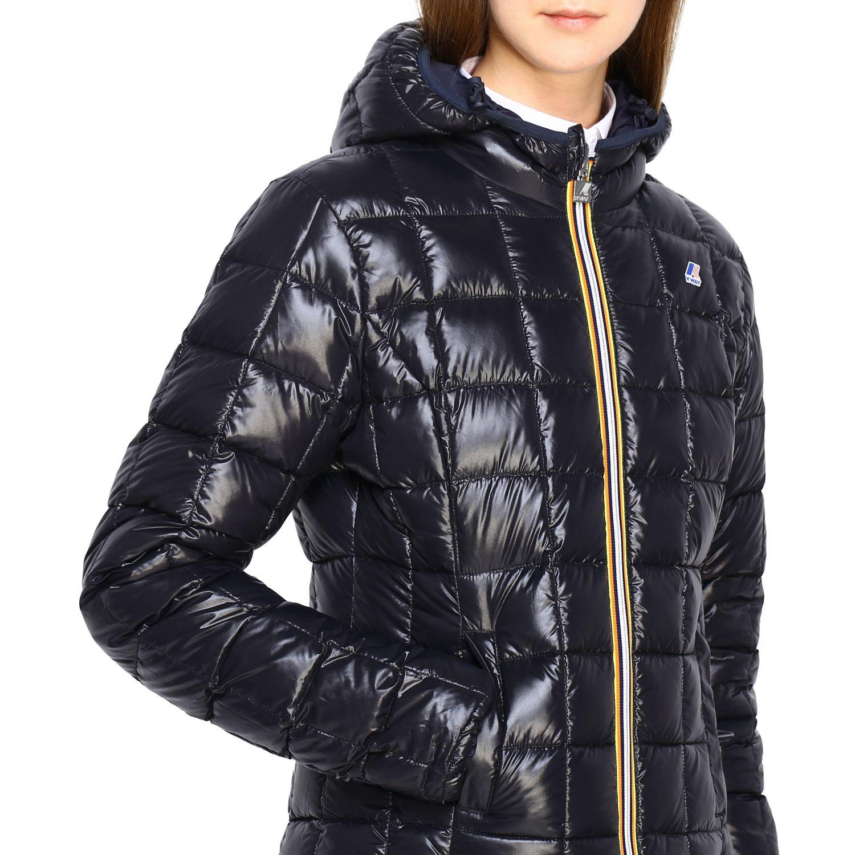 Jacket women K-way blue 1 5