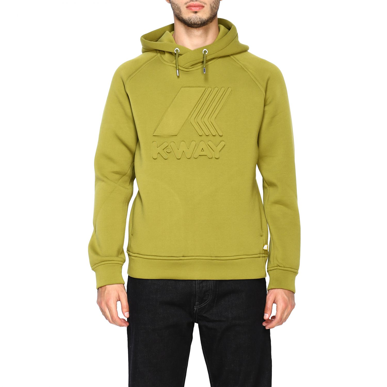 Sweatshirt K-Way: Jumper men K-way green 1