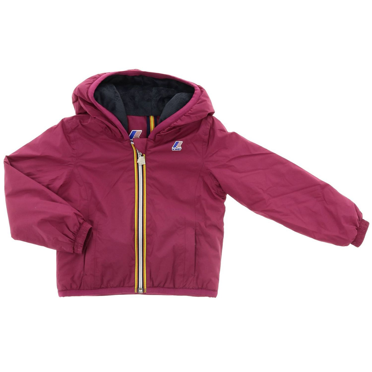 Jacket kids K-way fuchsia 1