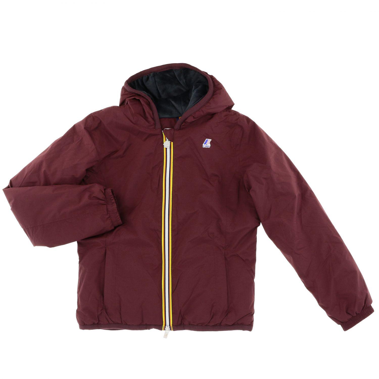 Jacket kids K-way burgundy 1