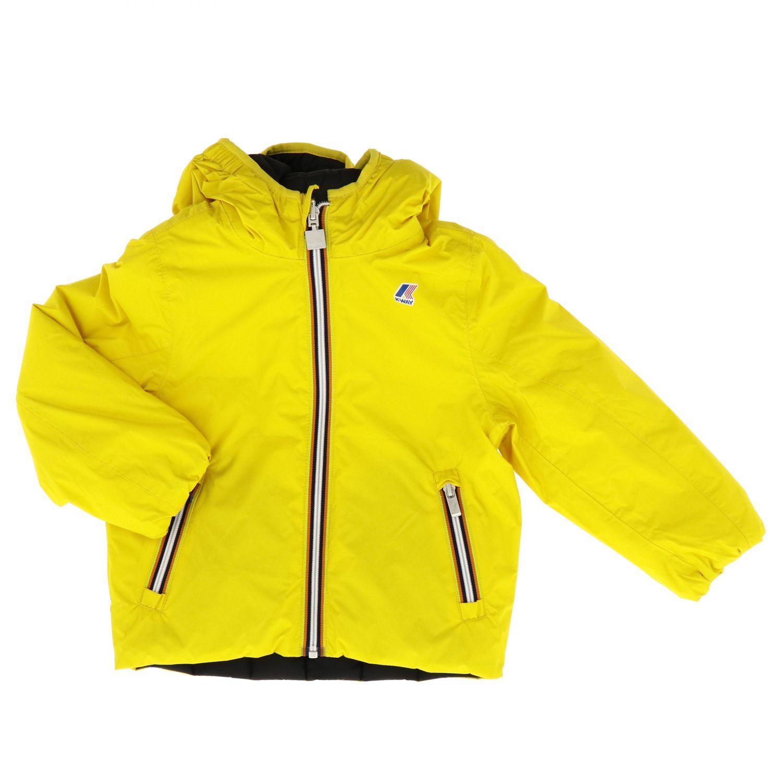 Chaqueta niños K-way amarillo 1