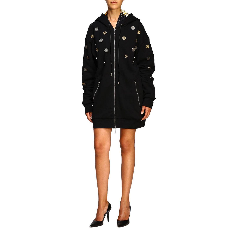 Manteau femme Fausto Puglisi noir 1