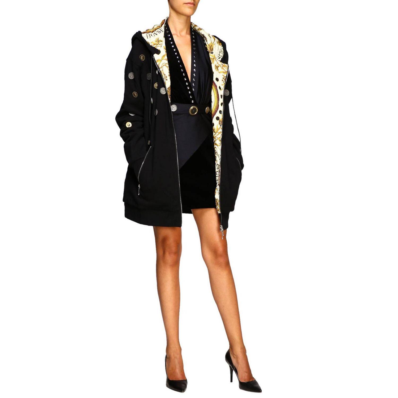Manteau femme Fausto Puglisi noir 2