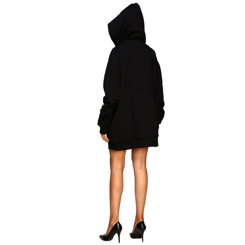 Manteau femme Fausto Puglisi noir 3