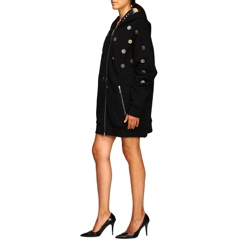 Manteau femme Fausto Puglisi noir 4