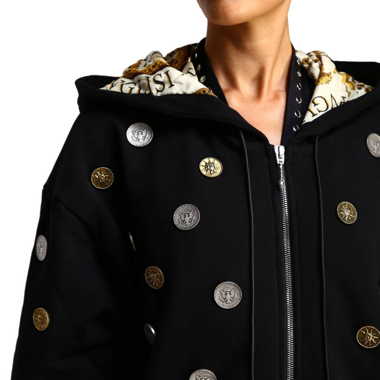 Manteau femme Fausto Puglisi noir 5