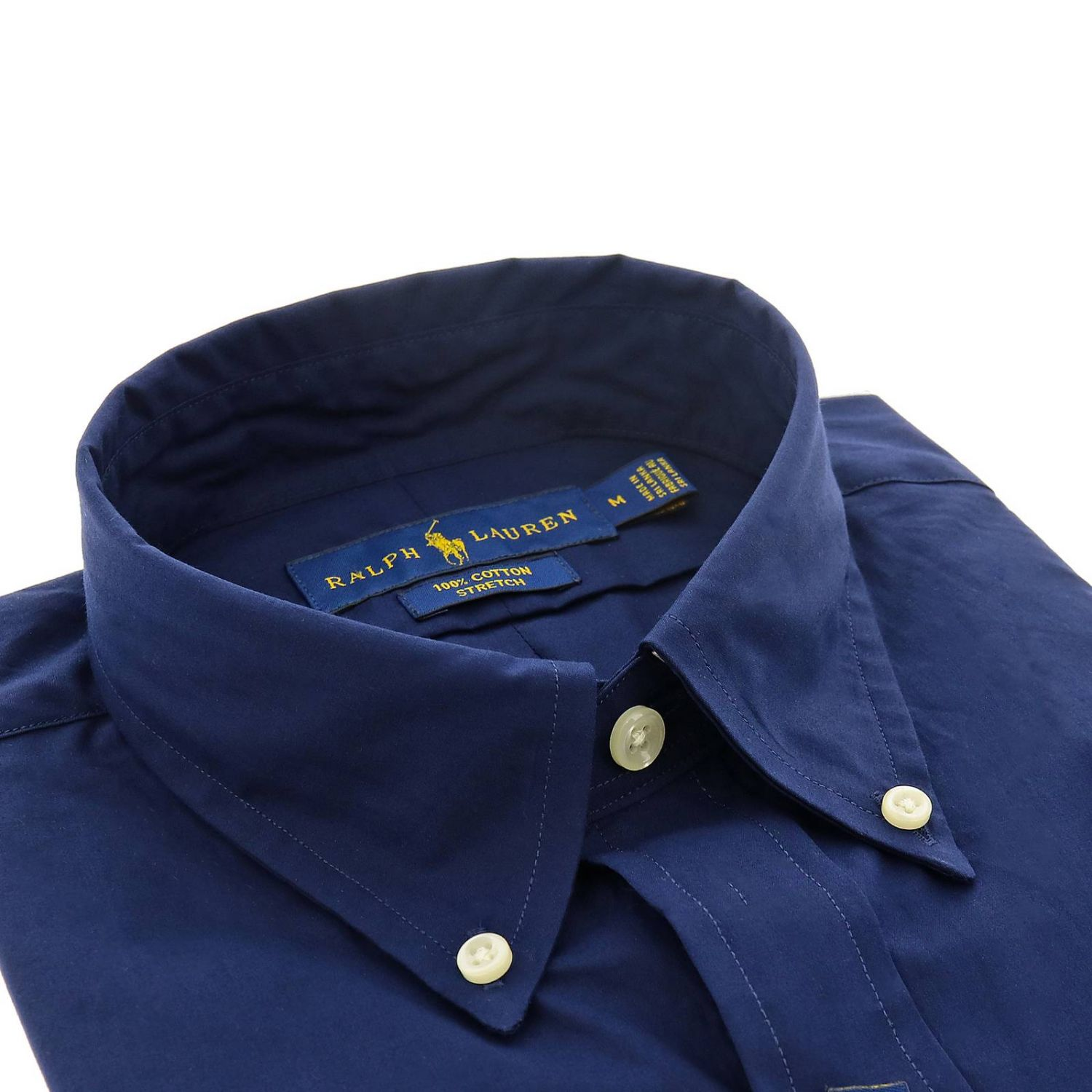 Camisa slim fit natural stretch con cuello abotonado y logo de Polo Ralph Lauren azul oscuro 2