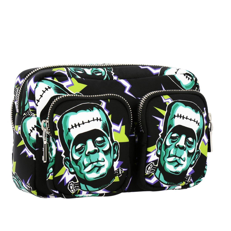 Prada Beauty Case aus Nylon mit Frankenstein-Aufdruck bunt 2