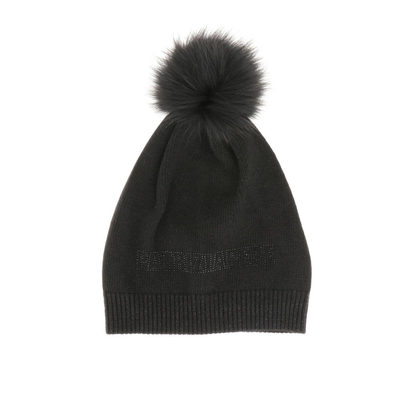 Cappello di lana Patrizia Pepe con pompon nero 1