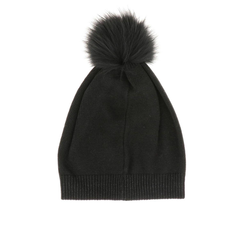 Cappello di lana Patrizia Pepe con pompon nero 2