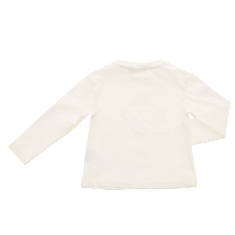 T-shirt Miss Blumarine a maniche lunghe con logo panna 2